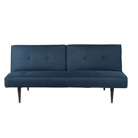 midnight blue 3 seater clic clac sofa bed trendy maisons