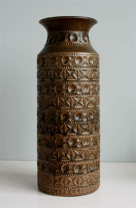 Big Gold Vase by West Germany Bay Keramik Vase Number 607 40 1960s 70s