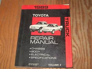 Sell 1989 Toyota Truck Pickup Factory Shop Service Repair