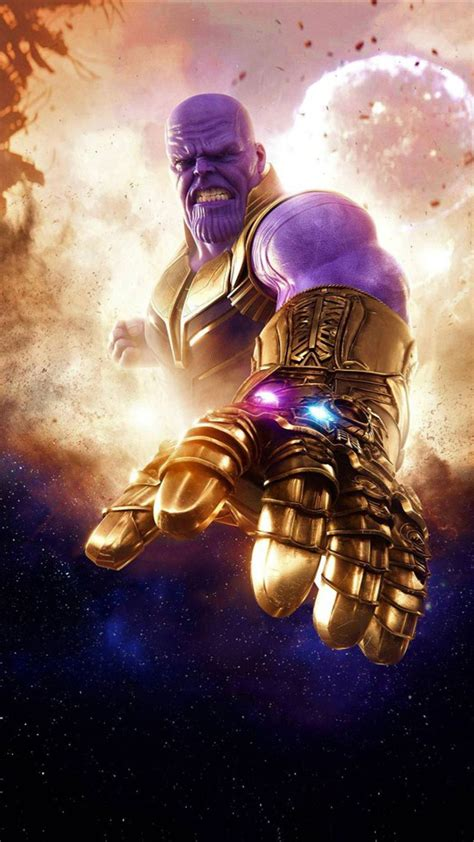 Hd Wallpaper For Mobile Marvel by Thanos Infinity War 2018 Marvel Thanos Marvel
