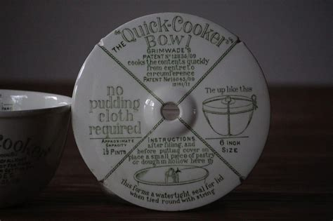 antique english grimwades quick cooker pudding bowl mold english  french country antiques