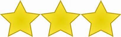 Stars Three Transparent Five Clipart Clip Rating