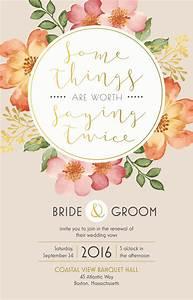Wedding renewal invitation vistaprint bold floral for Wedding invitation packages vistaprint