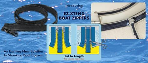 Boat Zipper Repair by Ez Xtend Boat Zippers Canvas Boat Cover And Repair