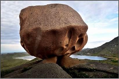 Giant Boulders Lake Rocks Shores East Scattered