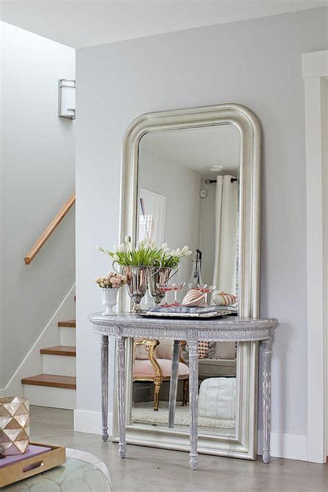 miroir  poser au sol idees de decoration interieure
