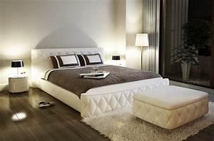 Lit Haut Adulte : lit en cuir italien de luxe farniente cru mobilier priv ~ Teatrodelosmanantiales.com Idées de Décoration