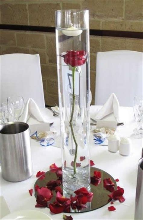 single red rose  vase centerpiece google search tale