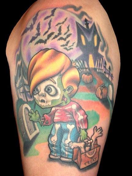 les  beaux tatouages pour halloween geek