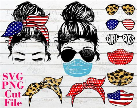 These svgs are totally free, but if you want to help you can spread the word by clicking the red or blue share buttons below. Girl Face Messy Bun SVG Vector Cut File Sunglasses Mask | Etsy