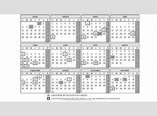 Calendario laboral Calendario de días inhábiles 2016
