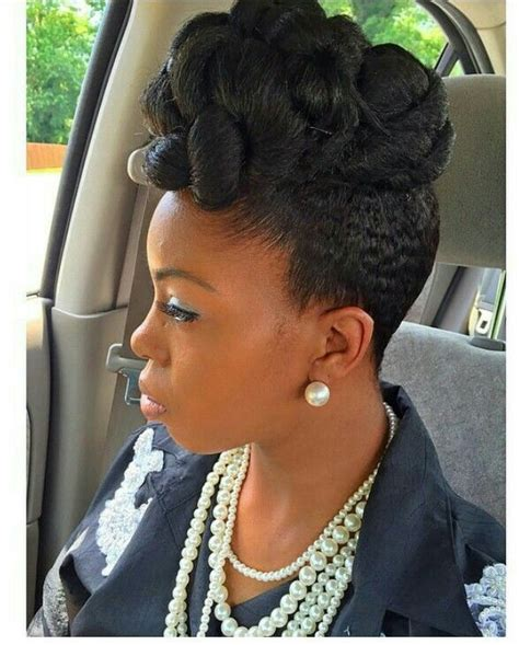 natural hair updo pinup natural hair me pinterest