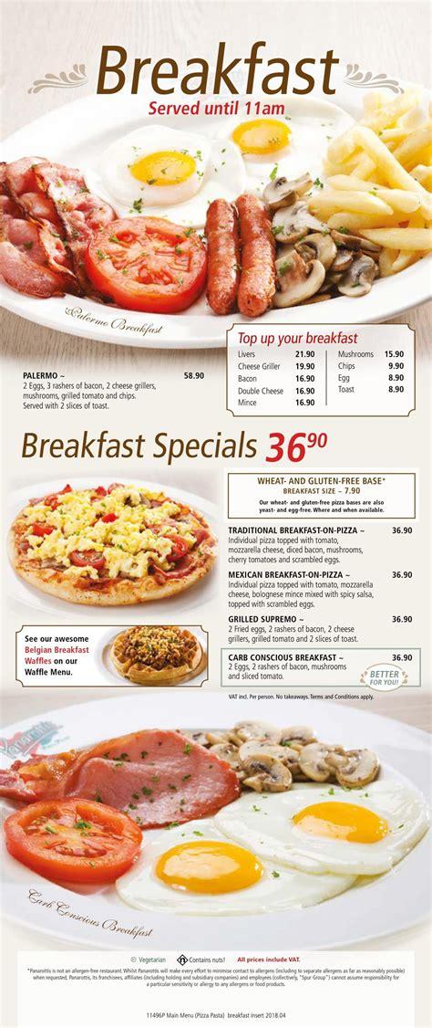 Panarottis Menu Prices & Specials