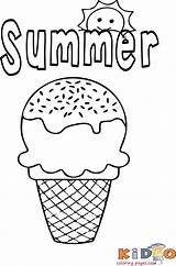 Ice Cream Coloring sketch template