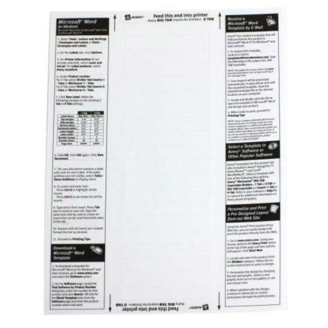 avery template 11901 avery 8 tab multicolor worksaver big tab plastic dividers 11901 72782119010 ebay