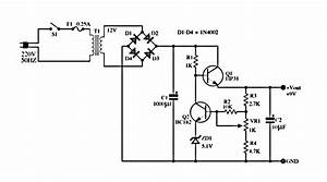 U0026gt  Circuits  U0026gt  6 12 Volt Adjustable Power Supply Circuit Schematic Diagram L23753
