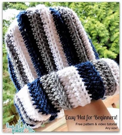 Crochet Hat Pattern Yarn Scrap Striped Hats