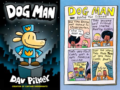dog man graphic   dav pilkey  entertain young
