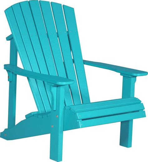 Outdoor Lawn Chairs by Poly Furniture Wood Deluxe Adirondack Chair Aruba Blue