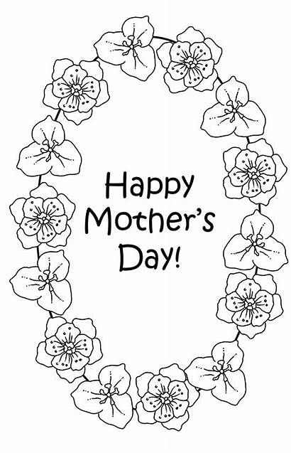 Coloring Flowers Mother Pages Mothers Sheet Different