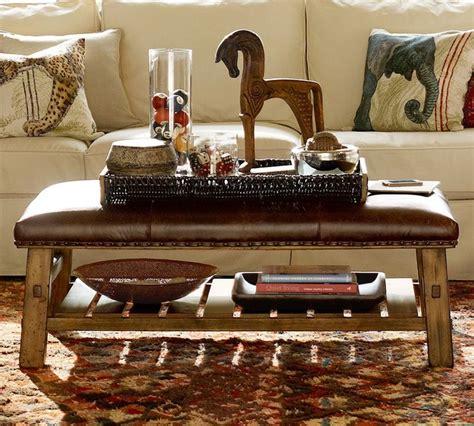 Caden Ottoman by Caden Leather Rectanglur Ottoman Traditional