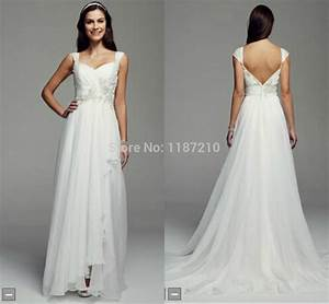 inexpensive backless wedding dresses 2015 simple chiffon With simple beach wedding dresses casual