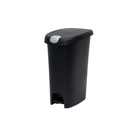 slim bathroom trash can with lid hefty 12 gal black slim step on trash can with locking