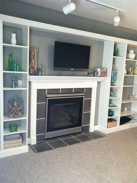 faux built  billy bookcase ikea hack redecorating
