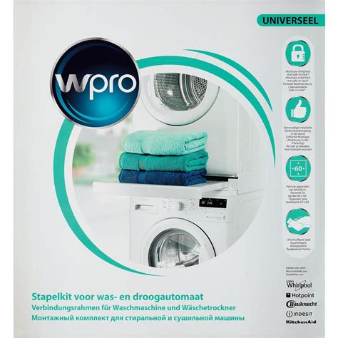 kit de superposition lave linge kit de superposition universel pour lave linge s 232 che linge avec tablette coulissante et sangle
