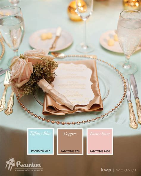 Tiffany Blue And Rose Gold Wedding Color Ideaselegant