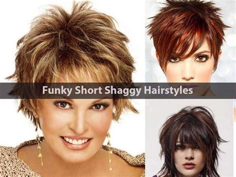 Funky Short Shaggy Hairstyles