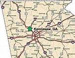 Kennesaw Georgia Map