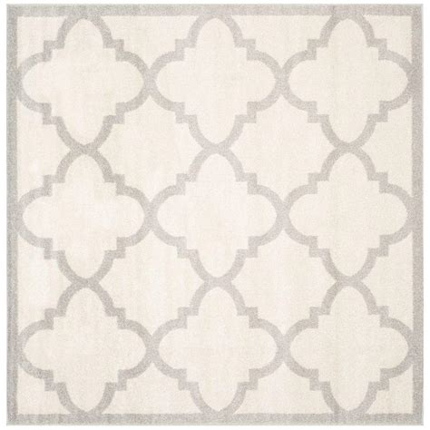 9 X 9 Outdoor Rug by Safavieh Amherst Beige Light Gray 9 Ft X 9 Ft Indoor