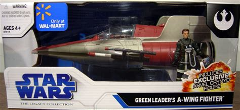 Green Leaders A-wing Fighter Vehicle Star Wars Legacy Hasbro