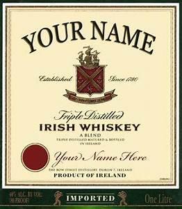 irish whiskey whiskey and irish on pinterest With jameson whiskey label template