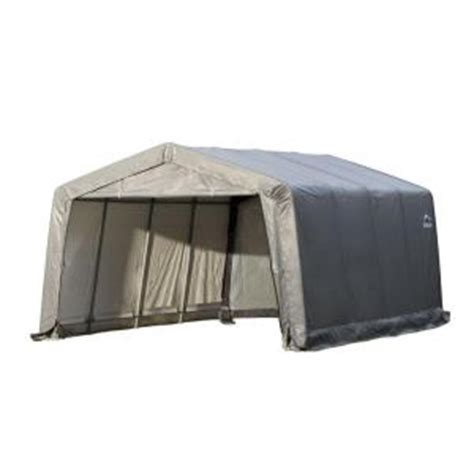 Shelterlogic Shed In A Box Home Depot by Shelterlogic Garage In A Box 12 Ft X 16 Ft X 8 Ft Peak