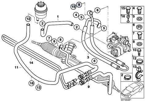 Hhr Drivetrain Diagram by Original Parts For E46 316ti N42 Compact Steering Hydro