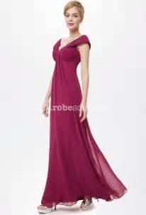 robe pour mariage longue robe longue fluide et décolleté en mousseline
