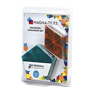 magna tiles 15718 polygons 8 piece expansion set pots