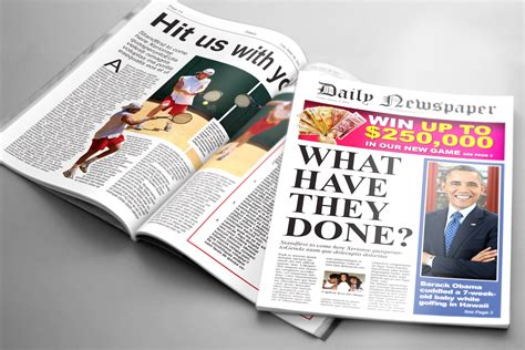Remember, though, that these 'rules' are certainly not hard and fast and can be 'broken'. Tabloid Newspaper Template ~ Magazine Templates ~ Creative Market