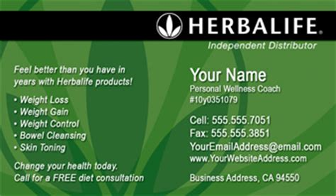 order herbalife business cards  shipping  design