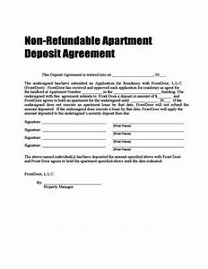 non refundable deposit agreement free download With car deposit contract template