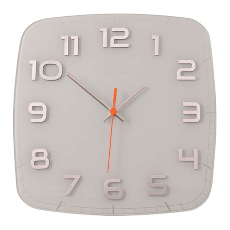 buy wall clock square white purely wall clocks