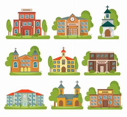 Different Types Church Buildings Building Purposes Isolated