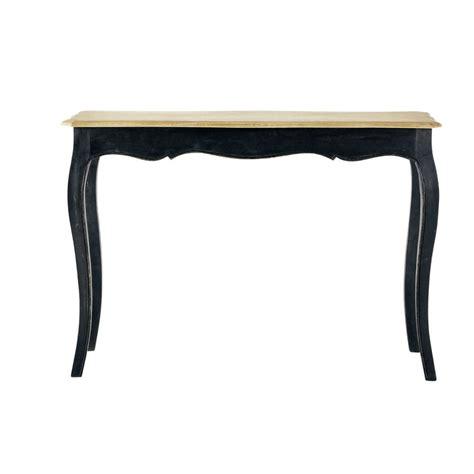 table console en manguier massif noire versailles maisons du monde