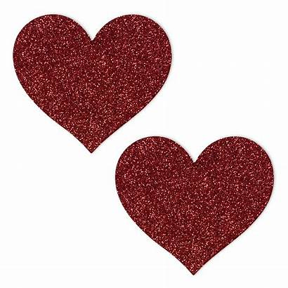 Glitter Heart Pasties Ruby Slippers Nipple Pastie