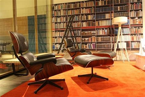 eames style lounge chair and ottoman by rove concepts