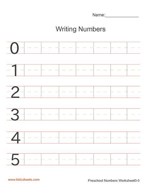 free printable preschool writing numbers worksheets free