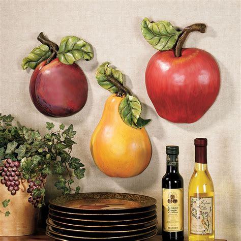 fruit wall accent set fruit kitchen decor diy wall decor kitchen decor themes