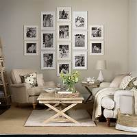 neutral living room Neutral living room with photo display | Decorating | Ideal Home